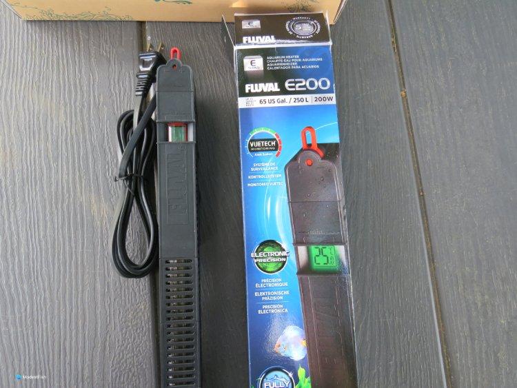 fluval e200 aquarium heater unboxed