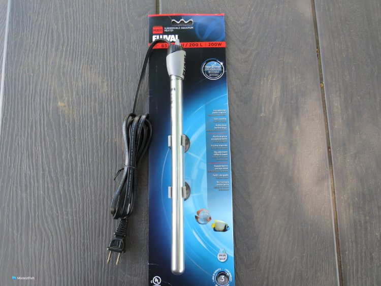 Fluval m200 aquarium heater unboxed