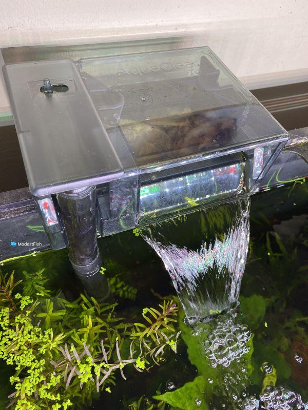 aquaclear power filter on tank