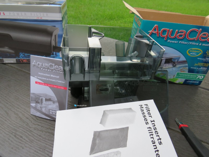 AquaClear hang-on-back-filter unboxed